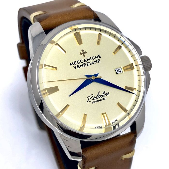 "Meccaniche Veneziane - Automatic Redentore Champagne with Blue Hands ""NO RESERVE PRICE"" - 1201010 - Heren - BRAND NEW"