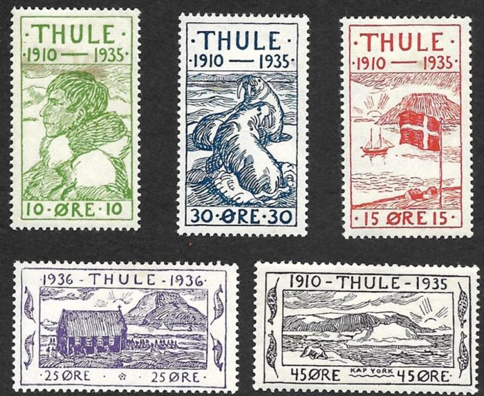 Greenland 1935 Stamps For Thule In Northwest Greenland Michel 1