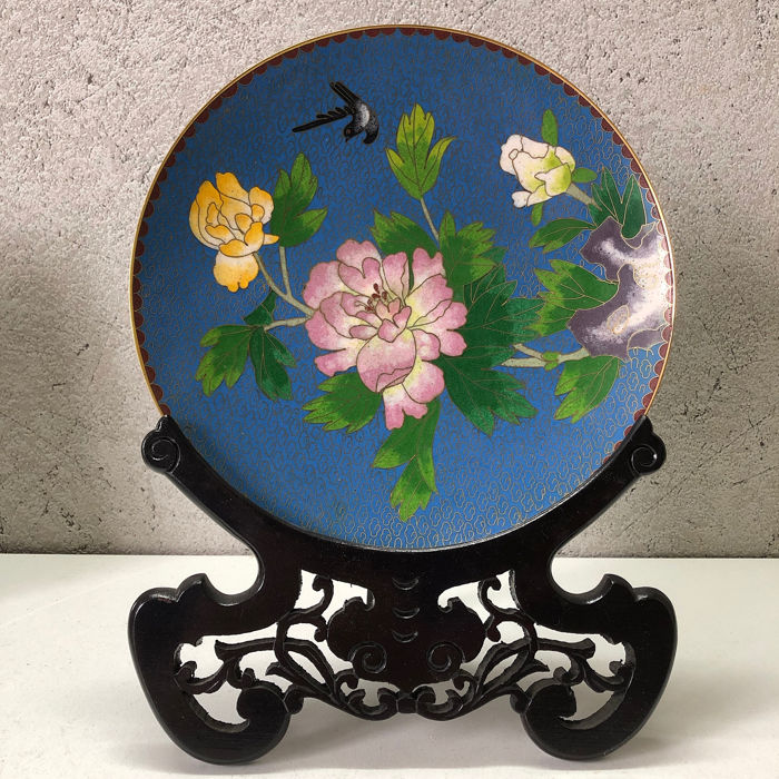 Other Asian Antiques 2019 Fashion Piatto In Cloisonnè