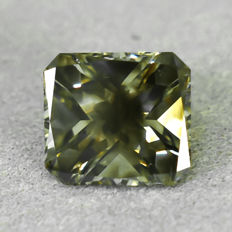 Diamante - 1.55 ct - Radiante - Natural Fancy Greenish Yellowish Brown - SI2
