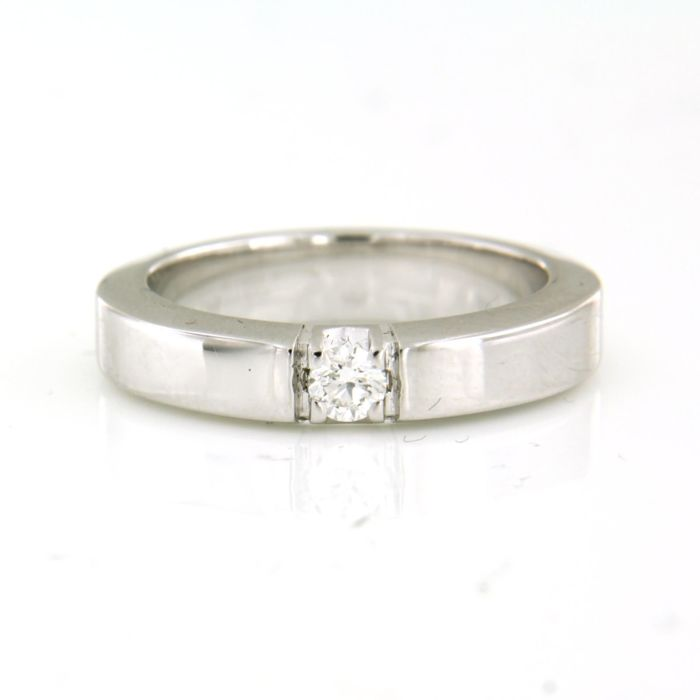 14 kt. White gold - Ring - 0.15 ct Diamond