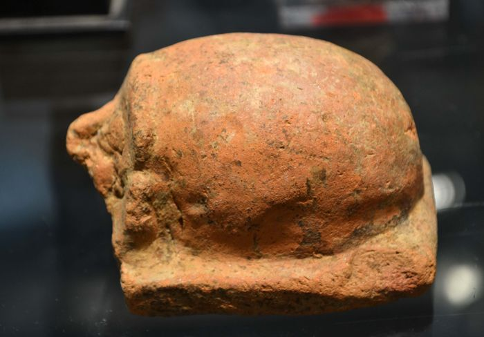 Ancient Egyptian Terracotta Large Scarab or Hedgehog