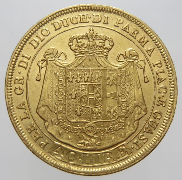 Italy - Duchy of Parma and Piacenza - 40 Lire 1815 - Maria Luigia - Gold