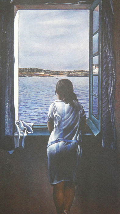Salvador-Dalí (dopo) - Girl at the window