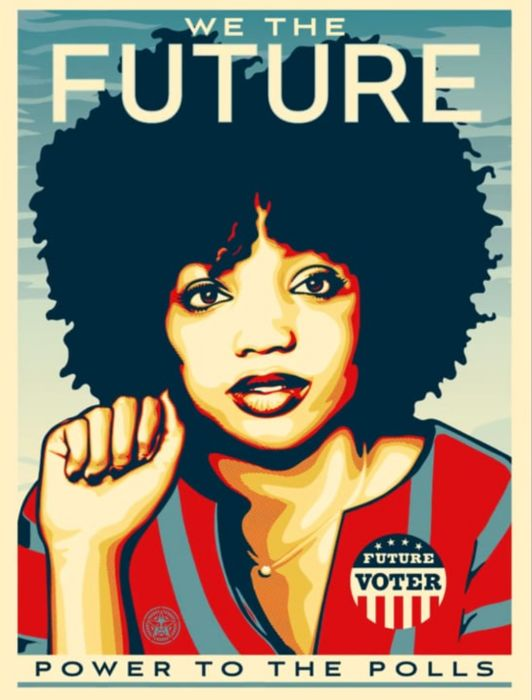 Shepard Fairey (OBEY) - We The Future Power To The Polls