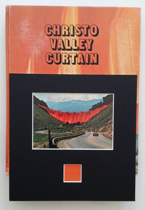 Signed; Christo and Jeanne Claude - Valley Curtain - 1973