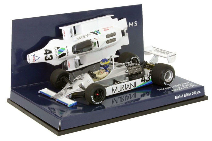 MiniChamps - 1:43 - Williams Ford FW07 D. Wilson British GP 1980 - Limited Edition of 504 pcs.
