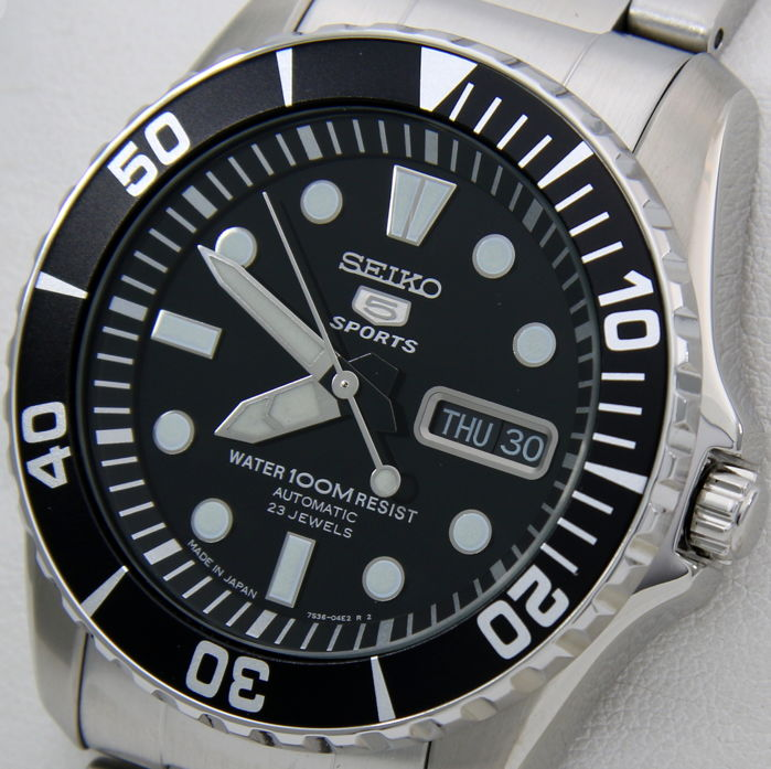 "Seiko - Automatic 23 Jewels Black Dial ""Made in Japan"" - NO RESERVE PRICE - - Homem - 2018"