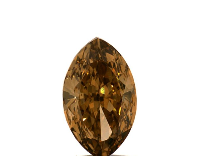 Diamante - 0.71 ct - Marquesa - fancy deep orange brown - IGI Antwerp - No Reserve Price, VVS2