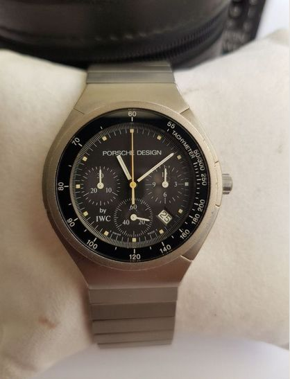 IWC - Porsche Design Chronograph Titan Man's Watch - 3743 - Homem - 1980-1989
