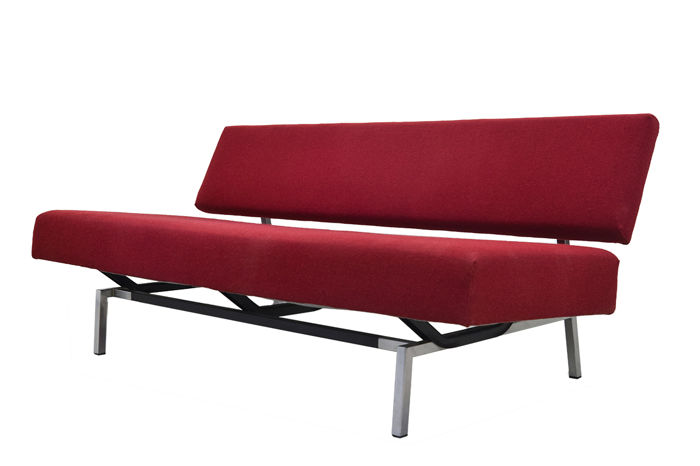 Martin Visser - \'t Spectrum - Minimalistic red two-seater sofa \'bz53\' (1 ...