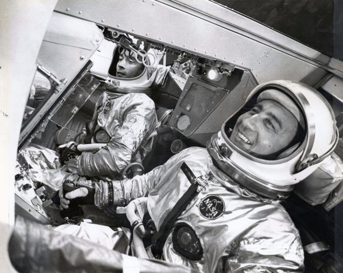 NASA - Virgil 'Gus' Grissom and John Young, the two primary pilots of the Gemini space mission, 1964