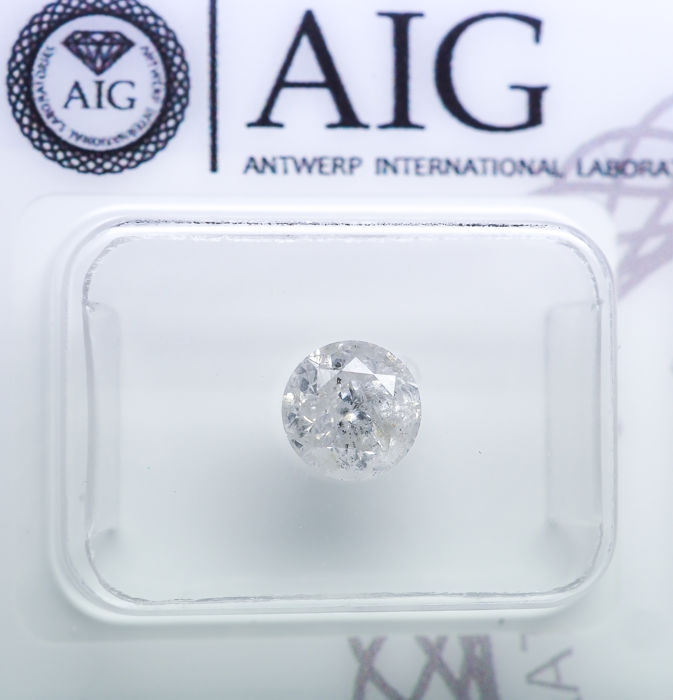 Diamond - 0.93 ct - Natural White - F color - I3 *NO RESERVE*