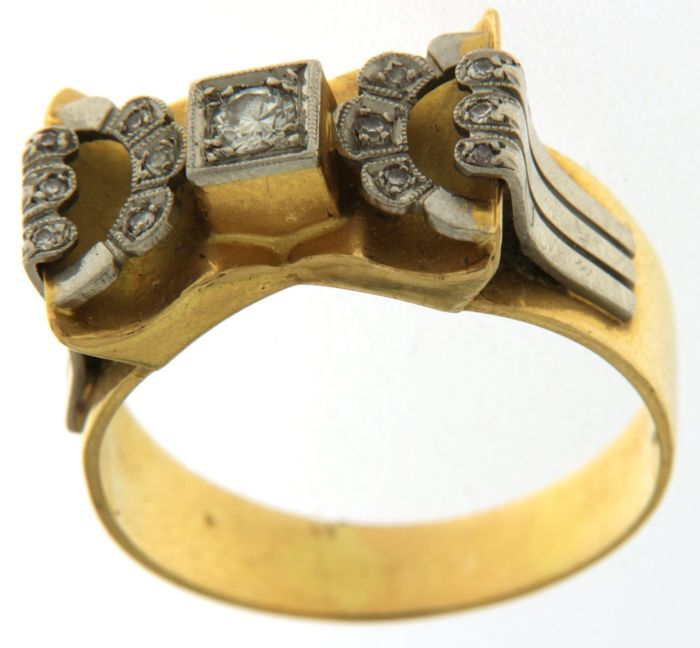 18 kt. Gold, Platinum - Ring