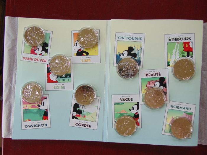 France - 10 Euro - 2018 Mickey in collector blister Disney (10 coins) - Silver