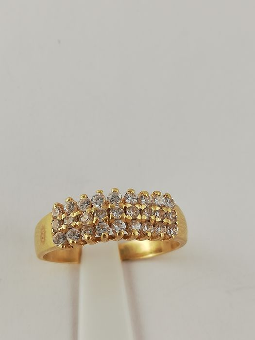 19,2 quilates Oro amarillo - Anillo - 0.13 ct Diamante