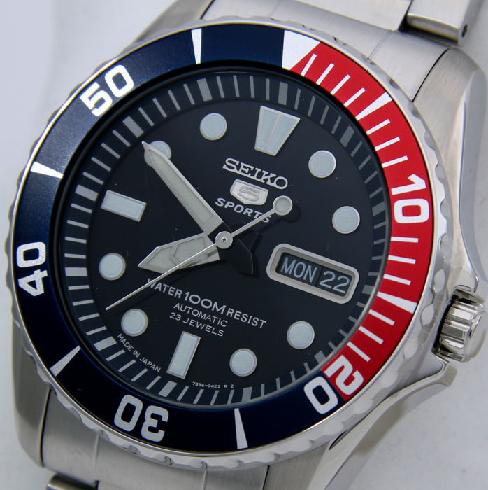 """Seiko - Automatic 23 Jewels 100M """"Blue Dial"""" - Made in Japan - - Men - 2018"""
