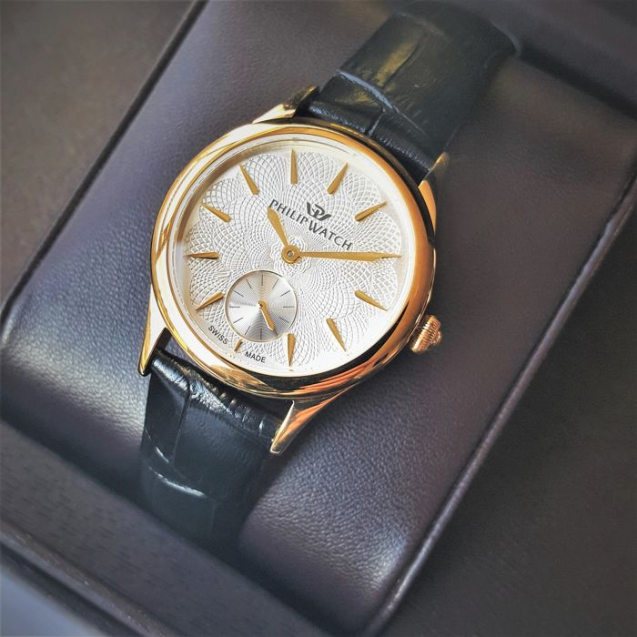 Philip Watch - Swiss Made Marilyn Guillochè Gold Sapphire - R8251596503  - Senhora - 2019 - New