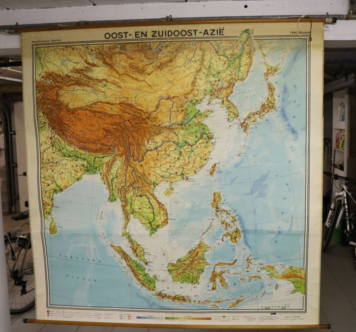Geographical Map Of Southeast Asia.George Westermann Westermann Ivac Brussel Geographic Map Of