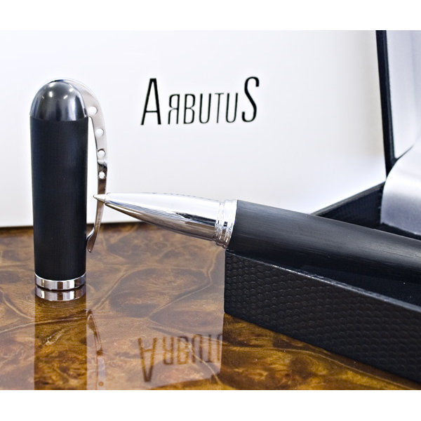 Arbutus New York Black Voisin Rollerball  Pen - Roller