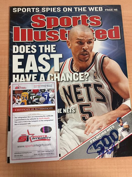 ee3d0a12686 New Jersey Nets - NBA Basketbal - Jason Kidd - 2003 - Signed magazine