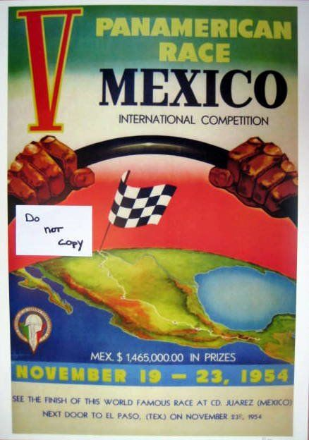 Seltener Raceprint - Panamerican Race Mexico International Competition  - 1954