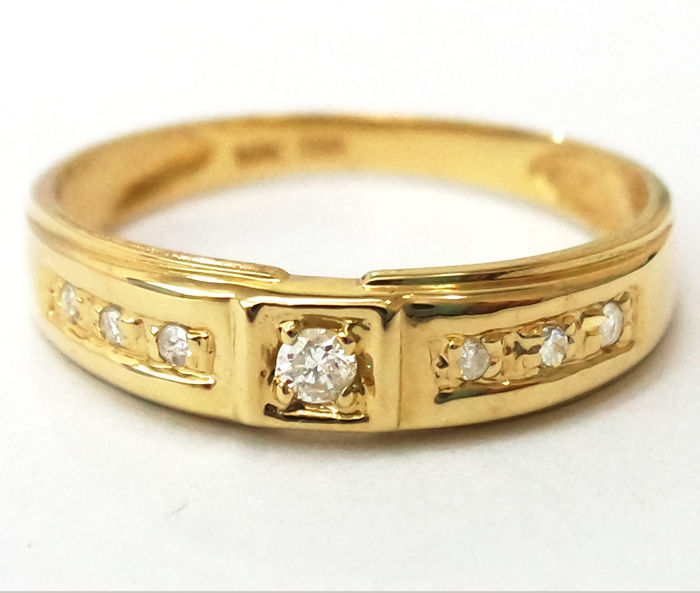14 kt. Yellow gold - Ring Diamond - Diamond