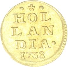 Netherlands - Holland - 1  Stuiver 1738  - Gold
