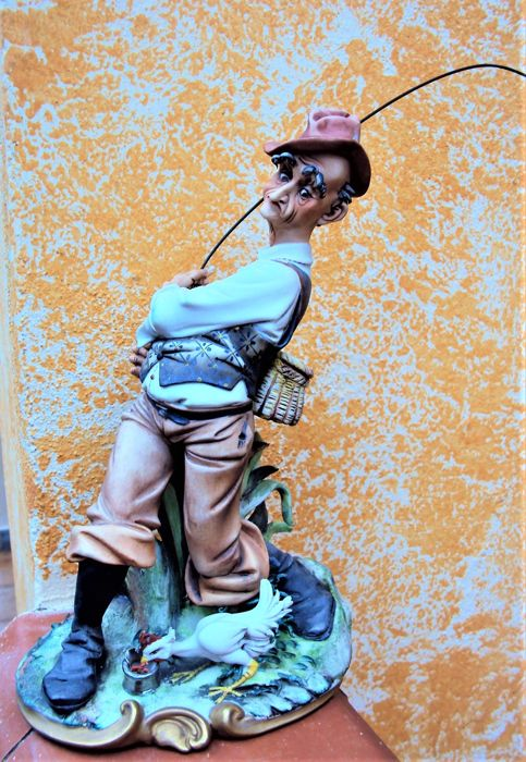 Old Fisherman, Capodimonte porcelain - Porcelain