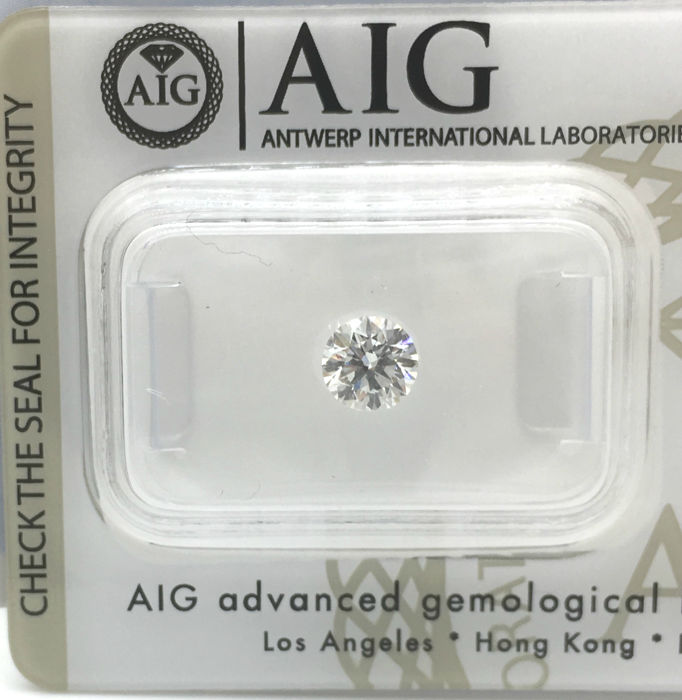1 pcs Diamond - 0.56 ct - Brilliant, Round - E - VS1