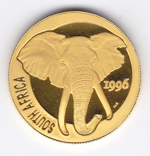 South Africa - 1/4 ounce 1996 Olifant - Gold