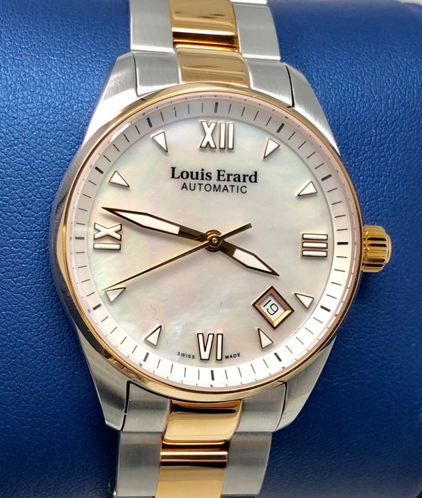 """Louis Erard - Automatic Heritage Collection 2 Tone Rose Gold MOP Dial - 69103AB24.BMA33 """"NO RESERVE PRICE"""" - Mujer - BRAND NEW"""