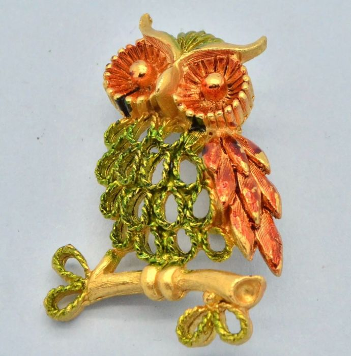 Verguld - Greenberg Co., B.B. Mamselle 1960's Owl