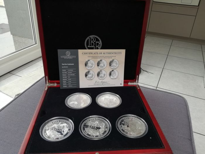 Cookeilanden - 10  Dollar 2011 Five Continents set - 5 x 1 Oz - Zilver
