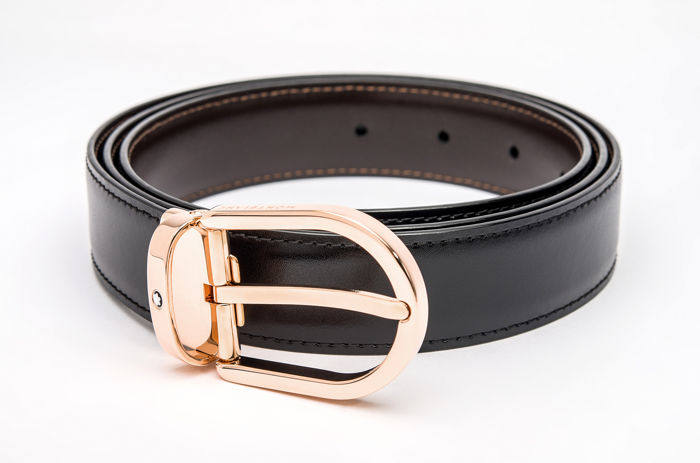 Montblanc - Black/brown reversible cut-to-size business belt (Ref. 111633) Riem