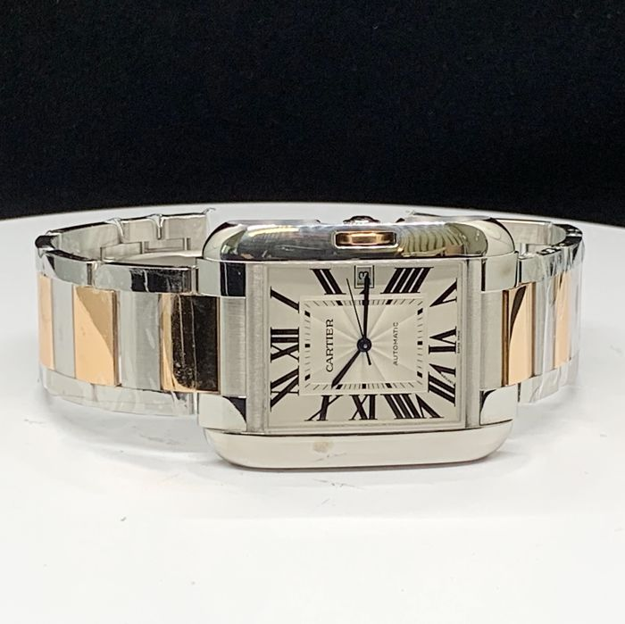 Cartier - Tank Anglaise XL Automatic 18K Rose Gold and Steel - W5310006 - Herren - 2011-heute