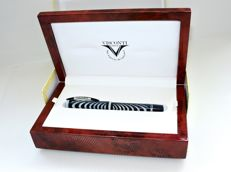 Visconti RIPPLE SILVER PEARL (Blue) LIMITED EDITION RARE - Caneta de tinta permanente