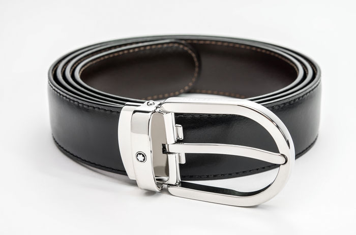 Montblanc - Black/brown reversible cut-to-size business belt (Ref. 38157)@ Belt