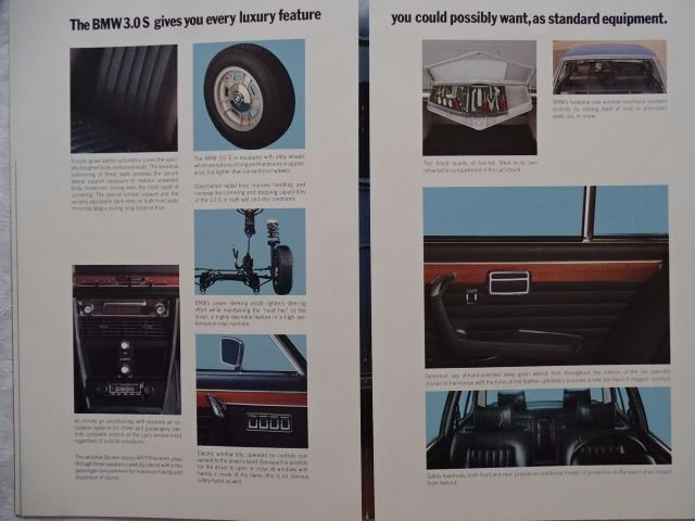 Brochures / catalogues - B M W  3 0 S / 3 0 Si - Six cylinder Saloon
