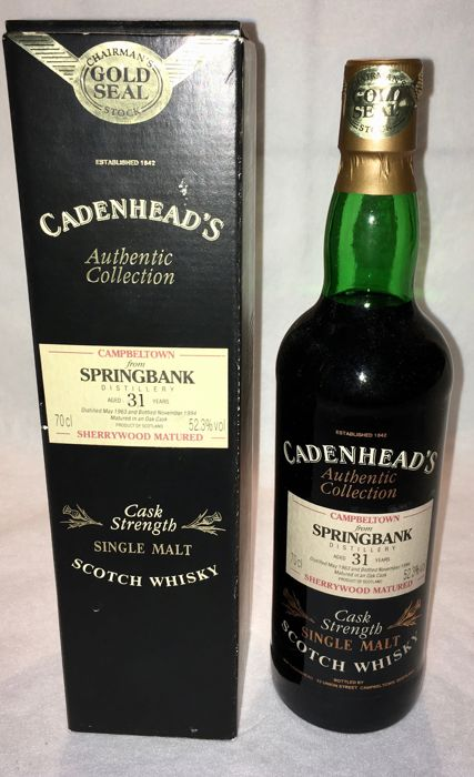 Springbank 1963 31 years old Authentic Collection Gold Seal - Cadenhead's - 70cl