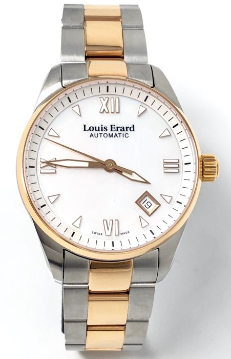 Louis Erard - Automatic Heritage Collection 2 Tone Rose Gold MOP Dial - 69103AB24.BMA33 - Mujer - BRAND NEW