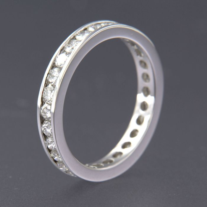 18 karaat Witgoud - Ring - 1.30 ct Diamant