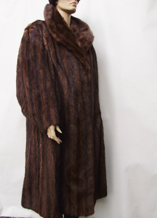 Handmade Brown Mink - 皮毛大衣 - 尺碼: XL, EU 44 (IT 48 - ES/FR 44 - DE/NL 42)