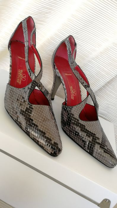 Valentino Couture - Decollete-schoenen in slangenleer