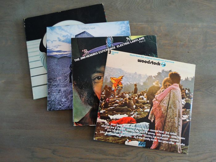 Jimi Hendrix Experience, The Who  - Jimi meets The Who at Woodstock - Lot of four vinyl albums incl. Who's Next & Electric Ladyland  - Több cím - Hanglemez (album) - 1969/1975