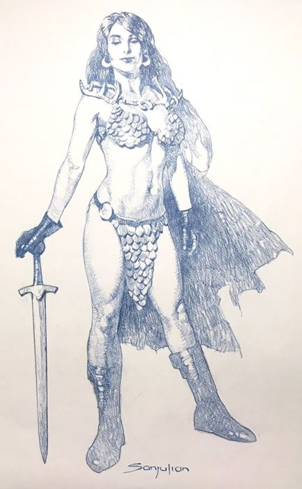 Red Sonja - Sanjulian - Originele Tekening Red Sonja - Loose page - Original Drawing (2017)