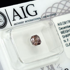 Diamond - 0.58 ct - Ράντιαν - Natural Fancy Intense Pink-Brown - I2 - NO RESERVE PRICE