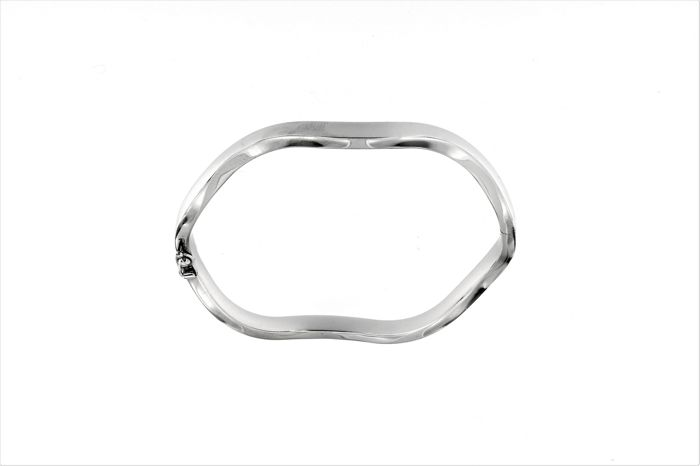 Bracciale rigido - Made in Italy - 18 karaat Witgoud - Armband