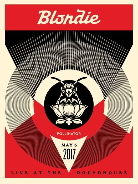 Shepard Fairey (OBEY) - Blondie- Live at the Roundhouse (red)