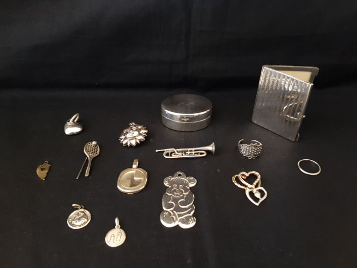 Lot of silver objects-private collection (14) - .800 silver - Italy - 1950-1999